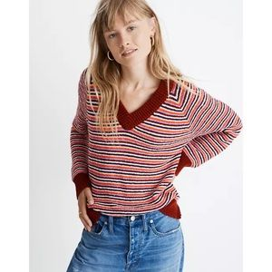 Madewell Arden V-Neck Crop Pullover Sweater Sz XS